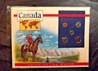 5 CANADA COINS OF THE WORLD POSTAL COMMEMORATIVE SOCIETY 1993