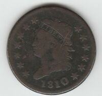 1810/09 1810 OVERDATE  GOOD VG CLASSIC HEAD US LARGE CENT 1C