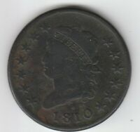 1810  GOOD VG CLASSIC HEAD US LARGE CENT 1C