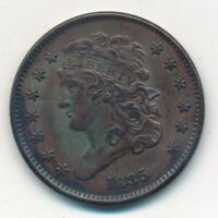 1835 CLASSIC HEAD HALF CENT-SENSATIONAL COPPER TYPE COIN SHIPS FREE INV:2