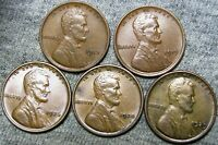1912 1919 1926 1928 1929 LINCOLN WHEAT CENTS ---- STUNNING LOT ---- B872