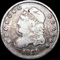 1831 CAPPED BUST HALF DIME SILVER US COIN ----  TYPE COIN ---- B898