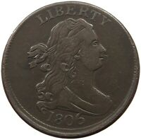 UNITED STATES HALF CENT 1806  OFF-CENTER   T37 631