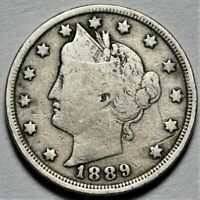 1889 LIBERTY HEAD NICKEL  >> US 5C COIN <<  FLAT RATE SHIPPING  LOT 720