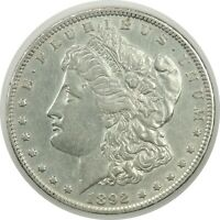 1892-P $1 MORGAN SILVER DOLLAR   EXTRA FINE  / AU DETAILS LIGHTLY CLEANED  071220