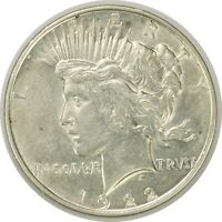 1922-D $1 PEACE SILVER DOLLAR  EXTRA FINE   CONDITION STAIN REVERSE  071220