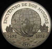 CHILE 10000 PESOS 1991 SO PROOF   SILVER   ENCOUNTER OF TWO WORLDS   1968