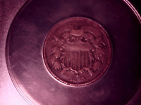 1865 TWO CENT PIECE 2C   ANACS VF 30 DETAILS