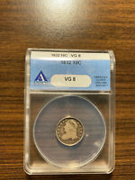 1832-P CAPPED BUST SILVER DIME 10C ANACS VG 8 VG 08 TYPE 2, SMALL DENTILS
