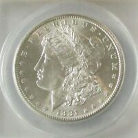 1881-S MORGAN DOLLAR MINT STATE 63 VAM-8A BLAST WHITE