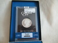1881 CC MORGAN SILVER DOLLAR NGC MINT STATE 64 GSA HOARD UNCIRCULATED $1 COIN COA BOX