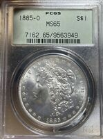 1885-O OGH PCGS MINT STATE 65 MORGAN SILVER DOLLAR