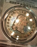 1795 $1 DOLLAR FLOWING HAIR B-5 BB-27 3 LEAVES - PCGS EXTRA FINE  - BEAUTIFUL  TONING