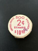 US SC.1897A UNOPENED COIL ROLL OF 500 IN ORIG.POST OFFICE PA