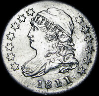 1811/9 CAPPED BUST DIME  DATE   ---- STUNNING  ---- F469