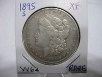 DATE 1895 S  MORGAN DOLLAR   EXTRA FINE ESTATE COIN  W64
