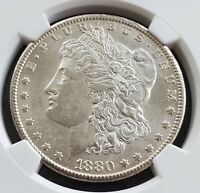 1880-CC MORGAN DOLLAR, VAM-7, 2ND REVERSE, MINT STATE 63 NGC CERTIFIED