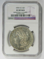 1890-CC MORGAN SILVER DOLLAR  NGC EXTRA FINE  DETAILS  PRICED RIGHT 004