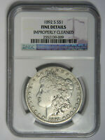 1892-S MORGAN SILVER DOLLAR  NGC FINE DETAILS   PRICED RIGHT 009