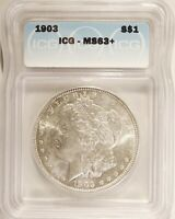 1903 MORGAN DOLLAR SILVER $1 CHOICE BRILLIANT UNCIRCULATED MINT STATE ICG MINT STATE 63