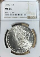 1882 NGC MINT STATE 65 MORGAN SILVER DOLLAR