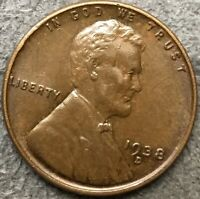 1938 D LINCOLN WHEAT CENT PENNY - HIGH GRADE  FREE SHIP. A523