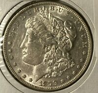1879 O REPUNCHED 1 AND 7 DIE CLASHES VAM-39A R-6 AU MORGAN US SILVER DOLLAR $1