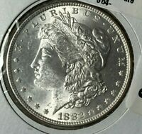 1882/1882 DOUBLED DATE VAM-12 R-6 UNCIRCULATED UNC MORGAN SILVER DOLLAR $1
