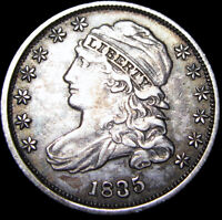 1835 CAPPED BUST DIME TYPE COIN  --- STUNNING   --- D510