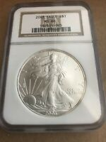 2003 AMERICAN SILVER EAGLE NGC MINT STATE 69 .999 ASE BROWN LABEL SHIPS FREE