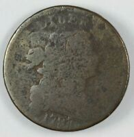 1797 DRAPED BUST STEMLESS LARGE CENT 1C   S 143 R.5