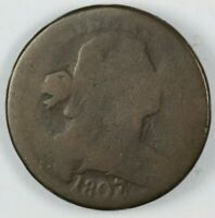 1807/6 DRAPED BUST LARGE CENT 1C