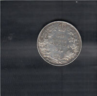 1934 CANADA 50 CENTS SILVER COIN