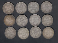 1904 19 NEWFOUNDLAND 50 CENTS SILVER COINS LOT OF 12