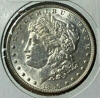 1896/6 DOUBLED STARS, 6 & EYE VAM-4 R-5 ALMOST UNCIRCULATED AU MORGAN DOLLAR $1