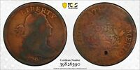 1797 1C S-138 REV OF 97, STEMS, BN DRAPED BUST LARGE CENT PCGS VG DETAILS