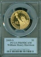 2009-S WILLIAM HENRY HARRISON $1 PCGS PR69DCAM PROOF COIN IN HIGH GRADE