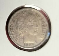 1892-P BARBER DIME ABOUT-UNCIRCULATED CONDITION  90 SILVER FIRST YEAR ISSUE