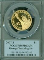2007-S GEORGE WASHINGTON ONE DOLLAR PCGS PR69DCAM PROOF COIN IN HIGH GRADE