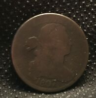 1807/6 S-273 LG 7 DRAPED BUST LARGE CENT COIN 1C  [SF25]