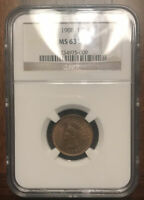 1908 INDIAN HEAD CENT MINT STATE 63 BN PCGS
