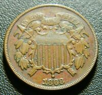 1868 TWO CENT PIECE 634