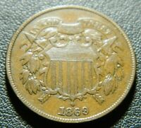 1869 TWO CENT PIECE 635