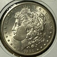 1889 S ALMOST UNCIRCULATED AU MORGAN SILVER US DOLLAR $1