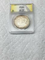 1897-S MORGAN SILVER DOLLAR ANACS CERTIFIED AU 58 DETAILS CLEANED LOOK