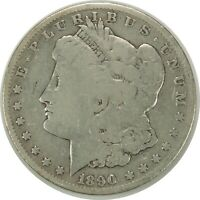 1890-O $1 MORGAN SILVER DOLLAR   GOOD DETAILS - LIGHTLY CLEANED  101420