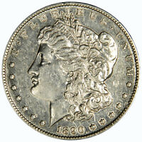 1890-S MORGAN DOLLAR  LIGHTLY CLEANED AU/BU ABOUT UNCIRCULATED INV 812