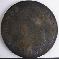 1808 CAPPED BUST HALF G/VG CLEANED