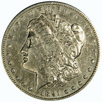 1891-S MORGAN DOLLAR  CLEANED  EXTRA FINE  INV 820