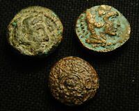 THREE 'S MACEDONIA TIME OF ALEXANDER THE GREAT 15.87 GRAMS TOTAL WEIGHT